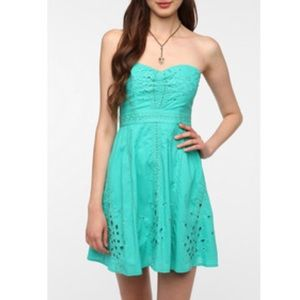 Urban Outfitters Mint strapless Dress
